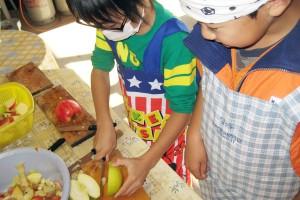 ワンデープラン・りんごジャム作り1