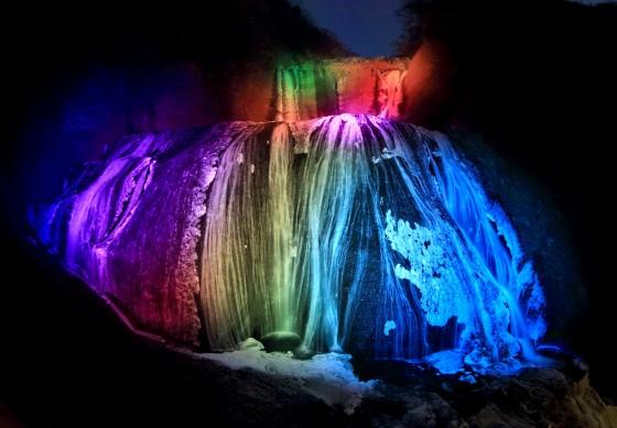袋田の滝ライトアップH26