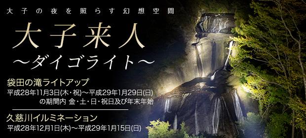 大子町ライトアップ事業「2016大子来人 ~ダイゴライト~」tags[茨城県]