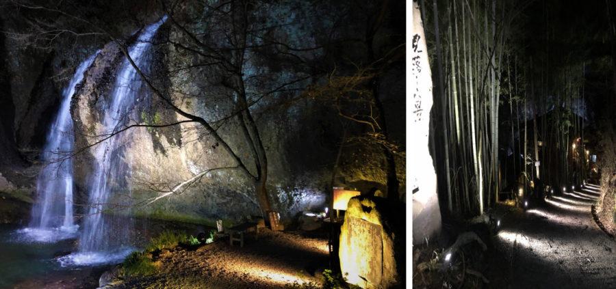 月待の滝ライトアップ